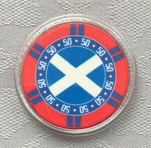 SCOTLAND/ISRAEL FLAG - POKER CHIP CARD GUARD/PROTECTOR