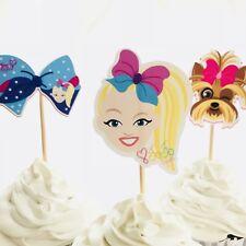 12x Jojo Siwa Cupcake Food Topper Pick. *HANDMADE* Party Supplies Lolly Loot Bag