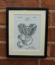 Estados Unidos de Patentes Dibujo Motos Harley Davidson Motor Montado impresión 1919 Regalo