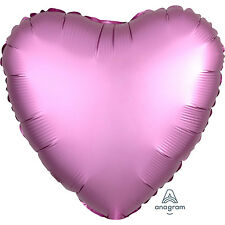 5x Rosa Flamingo Forma Corazón Globos Fiesta Decoración - Satén Luxe Acabado
