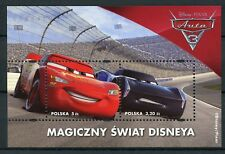 Poland 2017 MNH Disney Pixar Cars 3 2v M/S Animation Cartoons Stamps