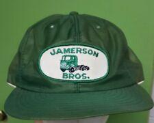 Vtg 80s LOUISVILLE MFG CO snapback hat trucker cap patch foam jamerson bros mesh