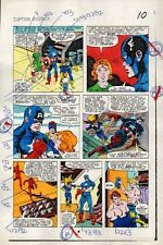 Sal Buscema 1983 Captain America 284 page 10 Marvel comic color guide art:1980's