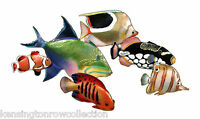 WALL ART - COLORFUL FISH METAL WALL SCULPTURE - NAUTICAL DECOR