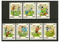 Kampuchea - 1989 World Cup Football set - MNH - SG 952/8