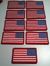 9 Estados Unidos Izquierdo Bandera Plancha Patch Eu Militar Táctico Emblema Rojo