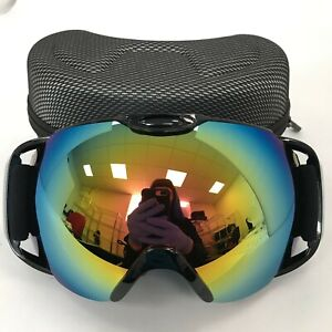 New Ski Snow Goggles & Case Adjustable Elasticated Strap Winter Sports 481062