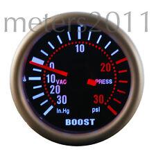 "2"" Turbo Boost Gauge -Smoke Lens, 12 V, Back Light, PSI  - 90 Series ROUND"