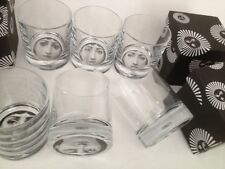 Tema e Variazioni set 6 FORNASETTI whisky Gläser*Verre*Glasses*Tumbler*Bicchiere
