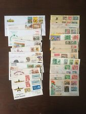 Vintage AFRICA FDCs Stamps Lot of 25, 1950s-1980s