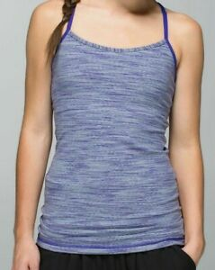 Lululemon Size 2 Power Y Tank Wee Are From Space Bruised Berry Built In Bra