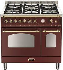 Lofra Dolcevita Range Cooker Doppelbackofen 90 cm, Drehspieß, WOK, burgundy