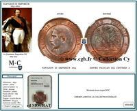 FRANCE AA54 : NAPOLEON III 10 Centimes 1853 A PARIS tête nue