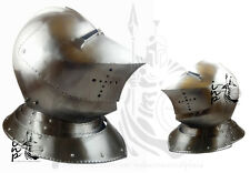 Medieval Transitional Crusader Close helmet with face guard Europe soldier Helme
