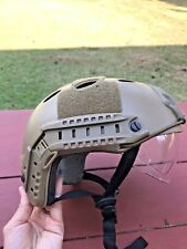 Military Tactical Gear Airsoft Paintball SWAT Protective Helmet w/ Goggle Tan