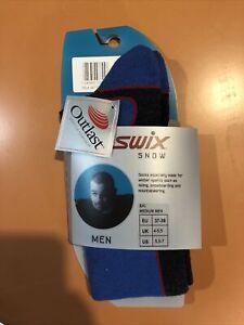 Swix Ski Socks With Outlast Size Medium Men Size 5.5-7 US Blue