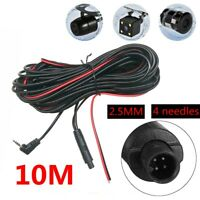 10M Car DVR Rear View Backup Camera Extension Cable 4 Pin Dash Cam Recorder Cord