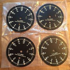 "Set of Four NOS US ARMY 6"" M. Low ship clock dials"