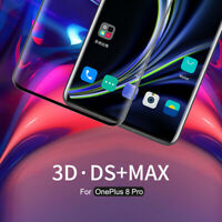 For OnePlus 8 Pro Nillkin 3D DS+MAX Full Cover Curved Tempered Screen Protector