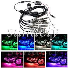 8 Strip RGB LED Strip Light Lamps NEON Remote Kit for Car Auto Motorcycle ATV