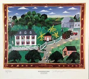 LOUISIANA FOLK ART-SCHEXNAYDER-PLANTATION SUNDAY-SIGNED&NUMBERED-RESERVE-W/CERT