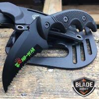 "5"" MILITARY TACTICAL KARAMBIT Hunting Skinner Hawkbill Knife Boot Fixed Rescue"
