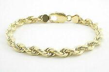 10k Yellow Gold Diamond Cut Rope Chain 6mm