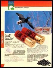 1995 WINCHESTER Super-X Drylok Shotgun Ammunition PRINT AD Mallard in flight