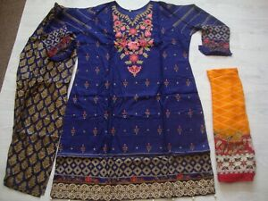 Maria bLawn Stitched Embroidered pakistani  salwar kameez  for 2021 to clear £23