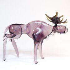Figurine glass miniature Murano MOOSE Dollhouse ZOO animal ELK OOAK. VIDEO