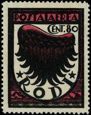 Italy 1934 air mail Rodi MNG Sas 31A variety CV $60.50 170903055