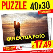 PUZZLE CON FOTO 40x30 PERSONALIZZATO FOTO PUZZLE 336 TASSELLI SPEDIZIONE GRATIS