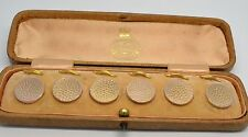 Stunning Edwardian 9ct Gold Boxed Button Set
