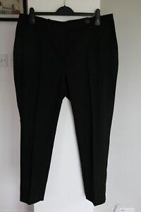 Women's Next Tailoring Black Trousers - Size UK 18R