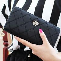 Women Lady Leather Wallet Card Holder Long Clutch Handbag Best Gift US STOCK