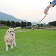 Dog Slip Lead Nylon Rope 122cm x 10mm Strong Big//Small Hook Khaki