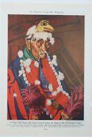 Niska Chief Wears Totem Eagle  Langdon Kihn Vintage Painting Print
