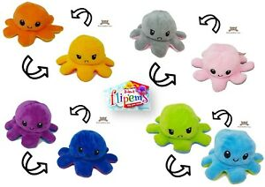 "PMS 453329 Flip'ems 2-in-1 Reversible Octopus Plush Toy 7"""