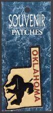 "Oklahoma Souvenir Patch  New=on card 1-3/4"" x 2-3/4"" "" Trail of Tears"""