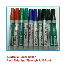 10 x High Quality Whiteboard Marker Bullet Tip in Red/Blue/Black/Green