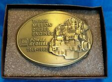 1990 John Deere Three Million Diesel Engines 1949-1990 Belt Buckle Vintage