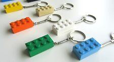 Handmade 2x4 LEGO Brick Snake Keyring x 5 Assorted Colours + Free Fridge Magnet