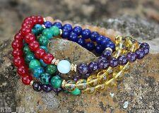 Chakra Pride Mala - Balanced & Loving Energies - Traditional 108 Count