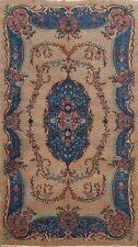 Floral Semi Antique Anatolian Turkish Area Rug Handmade Brown Wool Carpet 5'x8'