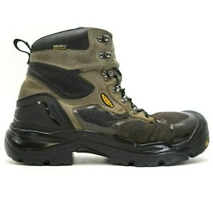 """Keen Mens Concord Gray 6"""" WP Steel Toe Work Safety Boots US 11 EE WIDE EU 44.5"""