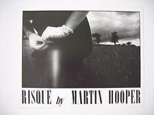 MARTIN HOOPER, 'RISQUE I' AUTHENTIC POSTER 1985