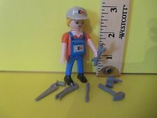 Playmobil SERIES 5 REPAIR MAN W/ 6 TOOLS new figure + orig pkg PM #5460
