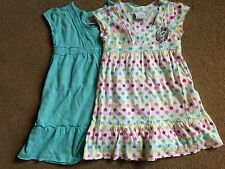 Bnwt Prossimo 2 Pack Multi Spot Aqua SOLE T-SHIRT DRESS DRESSES 12-18 mesi