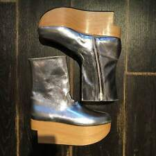 Vivienne Westwood Rockin 'Horse Shoes Boots Silver UK 6 from JAPAN F/S