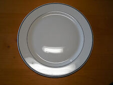 "Arcopal France ARP64 Set of 4 Large Dinner Chop Plates 12"" White w Black Bands B"